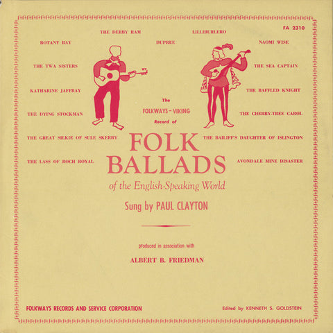 Paul Clayton  Folk Ballads of the English-Speaking World (1956) CD