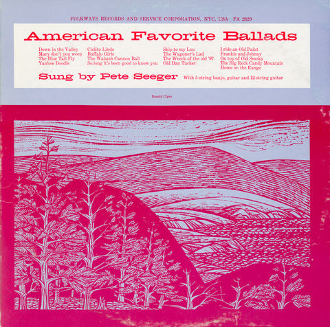 Pete Seeger: American Favorite Ballads, Vol. 1 (1957) CD