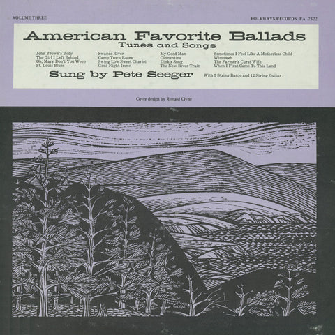 Pete Seeger: American Favorite Ballads, Vol. 3 (1959) CD