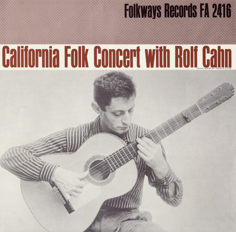 Rolf Cahn  California Concert with Rolf Cahn (1959) CD