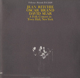 Jean Ritchie  A Folk Concert in Town Hall New York with Jean Ritchie, Oscar Brand and David Sear (1959) CD