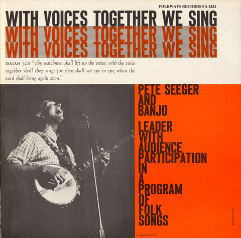 Pete Seeger  With Voices Together We Sing (1956) CD