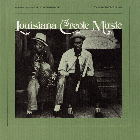 Louisiana Creole Music (1978)  Eraste Carriere, Fremont Fontenot, others CD