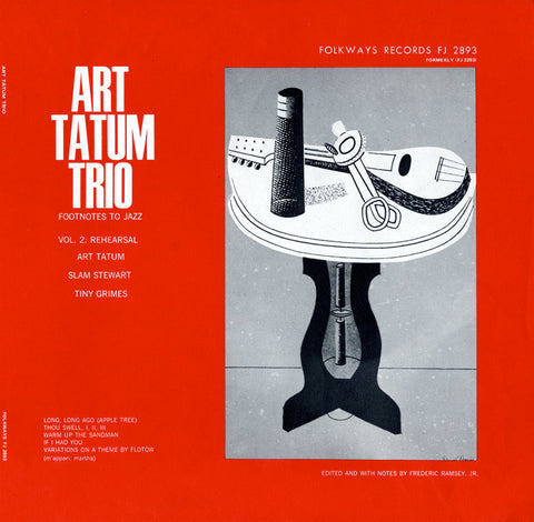 Rehearsal, Vol. 2  Footnotes to Jazz, Vol. 2 (1952)  Art Tatum CD