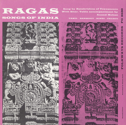 Balakrishna of Travancore   Ragas, Songs of India (1957) CD