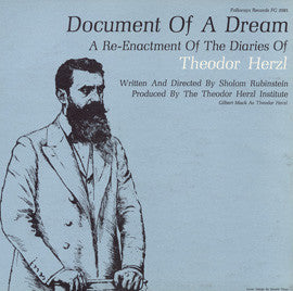 Document of a Dream: A Reenactment of the Diaries of Theodor Herzl CD
