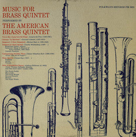 The American Brass Quintet  Music for Brass Quintet (1965) CD