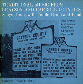 American Folk Anthologies  Traditional Music from Grayson and Carroll Counties, Virginia, Songs, Tunes, Fiddle, Banjo with Wade Ward, Glen Neaves, Vester Jones and others CD