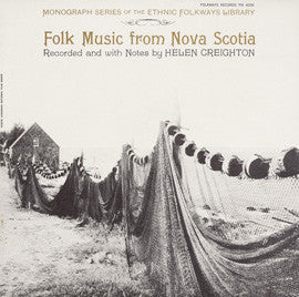 Folk Music from Nova Scotia (1956)  CD