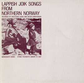 Lappish Joik Songs from Northern Norway (1956)  CD