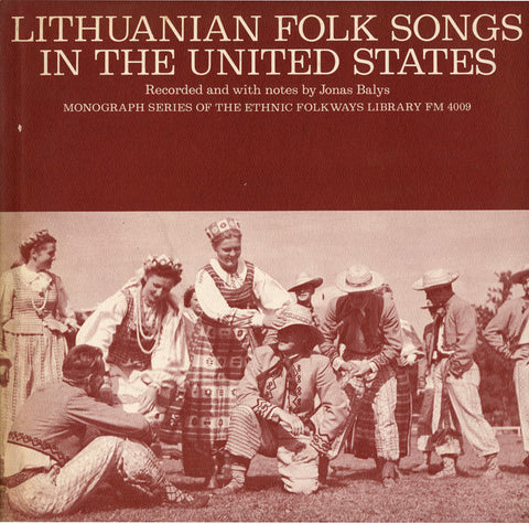 Lithuanian Folk Songs in the United States (1955)  CD