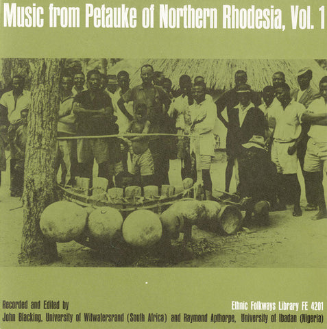 Music from Petauke of Northern Rhodesia, Vol. 1 CD