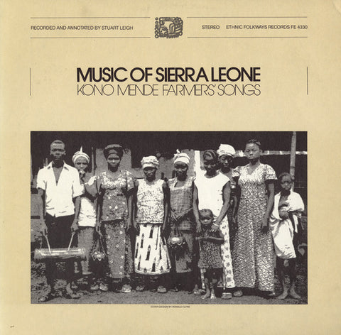Music of Sierra Leone  Kono Mende Farmers' Songs CD
