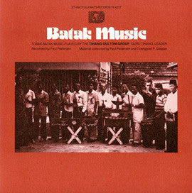 Batak Music: Tobak Batak Music Played by the Tihang Gultom Group CD