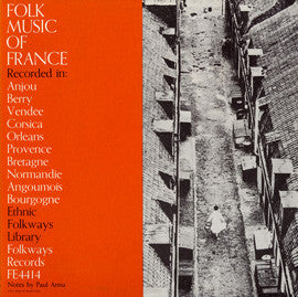 Folk Music of France (1951)  CD