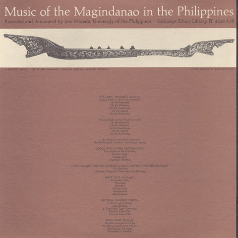 Music of the Magindanao in the Philippines, Vols. 1 and 2 (1961)  2 CD Set