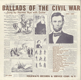 Hermes Nye   Ballads of the Civil War, 1831-1865 (1954) CD