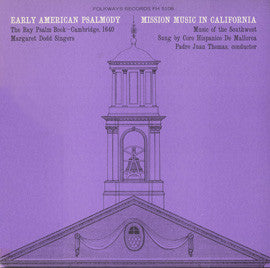 Early American Psalmody  The Bay Psalm Book-Cambridge, 1640 (1965)  CD