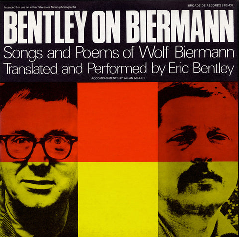 Bentley on Biermann  Songs and Poems of Wolf Biermann (1968)  Eric Bentley CD