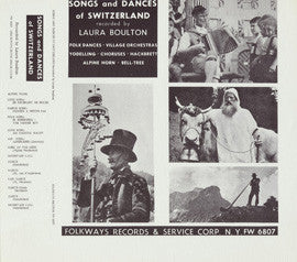 Songs and Dances of Switzerland (1953)  CD