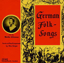 German Folk Songs (1954)  Martha Schlamme CD