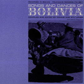 Folk Songs and Dances of Bolivia (1959)  CD