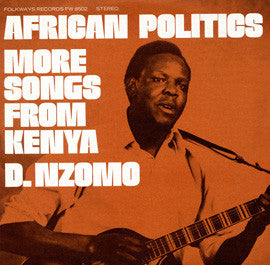 African Politics  More Songs from Kenya - David Nzomo CD