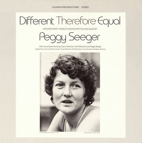 Peggy Seeger  Different Therefore Equal (1979) CD