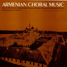Armenian Choral Music (1966)  Armenian National Choral Society of Boston CD
