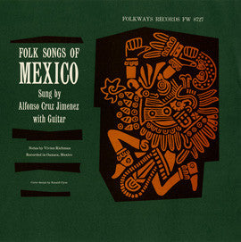 Folk Songs of Mexico (1958)  Alonzo Cruz CD