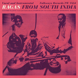 Gayathri Rajapur   Ragas from South India (1967) CD