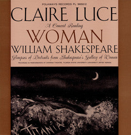 Claire Luce - A Concert Reading: Woman - Wm. Shakespeare CD