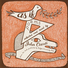 As If: Poems, New and Selected, by John Ciardi CD