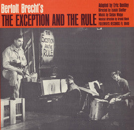 Bertolt Brecht's The Exception and the Rule CD