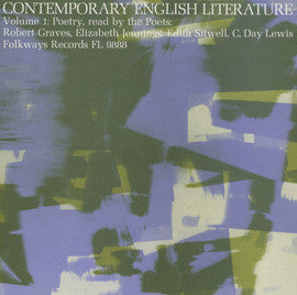 Contemporary English Literature, Vol. 1: Poetry of Robert Graves, Elizabeth Jennings, Edith Sitwell, C. Day Lewis CD