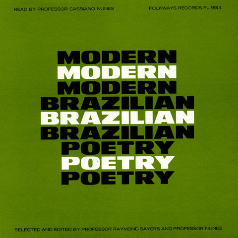 Modern Brazilian Poetry (1965)  Read by Professor Cassiano Nunes CD