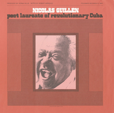 Nicolas Guillen  Poet Laureate of Revolutionary Cuba (1982)  read in Spanish by the poet CD