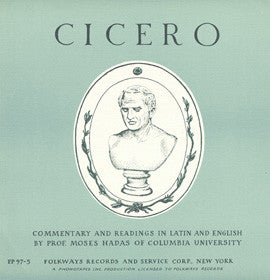 Cicero: Commentary and Readings in Latin and English by Moses Hadas CD