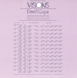 David Cope  Visions  Music for Orchestra, 2 Pianos and Computer-Generated Tape (1979) CD