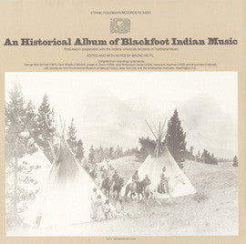 An Historical Album of Blackfoot Indian Music (1979)  CD