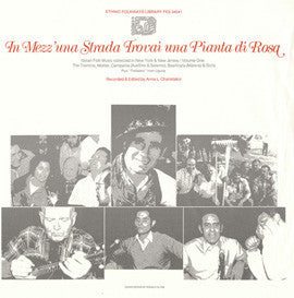 Italian Folk Music Collected in New York and New Jersey, Vol. 1 (1979)  CD