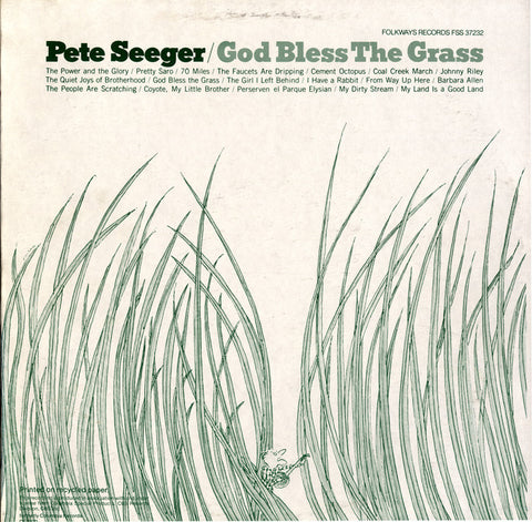 Pete Seeger  God Bless the Grass (1982) CD