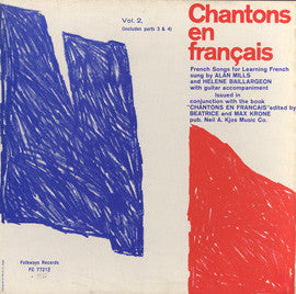 Chantons en Francais, Parts 3 and 4  French Songs for Learning French (1961)  inc. 7721 and 7722 CD