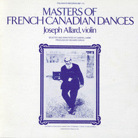 Masters of French-Canadian Music, Vol 1 (1979)  Joseph Allard CD