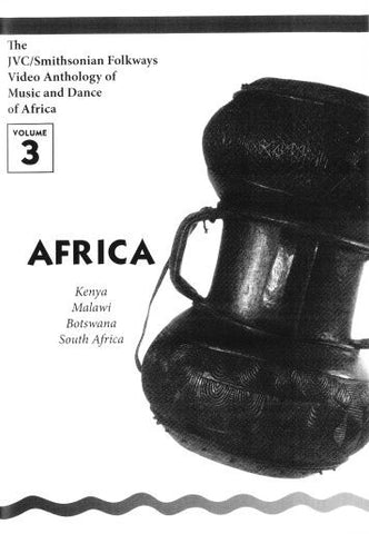 JVC/SMITHSONIAN FOLKWAYS VIDEO ANTHOLOGY OF MUSIC & DANCE OF AFRICA VOL 3 (1 DVD/1 BOOK) -- REDUCED PRICE
