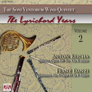"Anton Reicha Quintet Op. 100 No. 4 in E minor - Franz Danzi Quintetto No. 3, Op. 51 in F Major - <font color=""bf0606""><i>DOWNLOAD ONLY</i></font>"