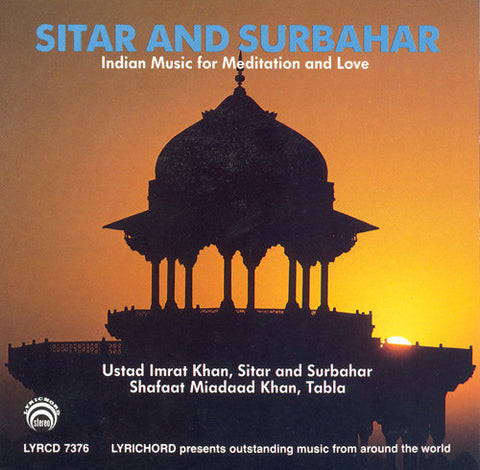 "Ustad Imrat Khan: Sitar and Surbahar, Indian Meditation Music <font color=""bf0606""><i>DOWNLOAD ONLY</i></font>LYR-7376"