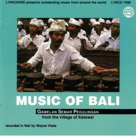 "Music of Bali - <font color=""bf0606""><i>DOWNLOAD ONLY</i></font> LYR-7408"