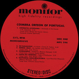 Coimbra Orfeon of Portugal CD