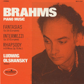 Brahms Piano Music CD